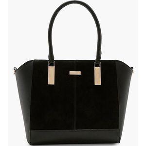 👜 Boohoo Natalie Textured Tote Purse Handbag